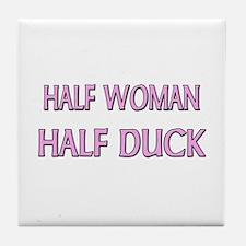 Half Woman Half Duck Tile Coaster