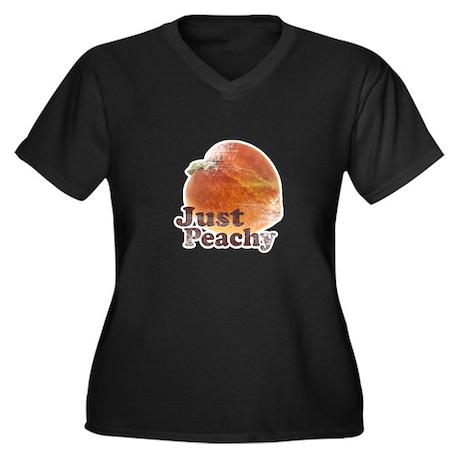 Vintage Just Peachy Women's Plus Size V-Neck Dark
