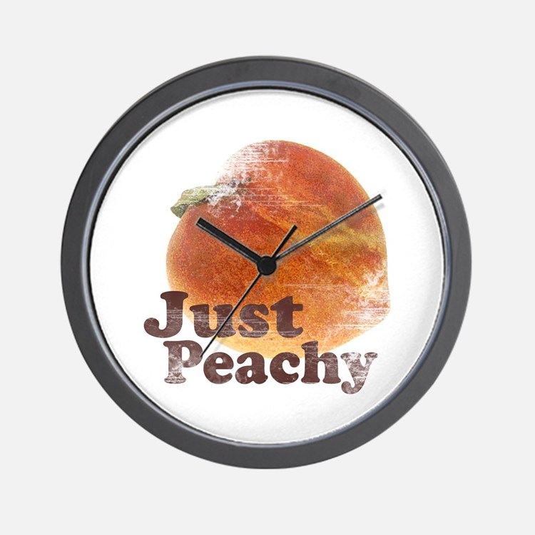 Vintage Just Peachy Wall Clock