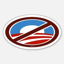 NoBama - symbol only Oval Decal