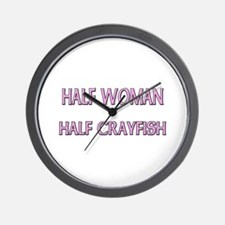 Half Woman Half Crayfish Wall Clock