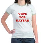 Vote for Kaysar Jr. Ringer T-Shirt