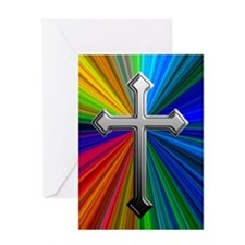 Chrome Cross on Prism - Greeting Card