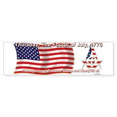 Celebrate the fourth Masonically Bumper Bumper Sticker