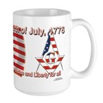 Celebrate the fourth Masonically Large Mug