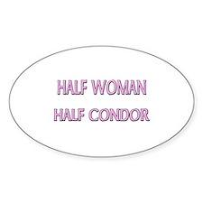 Half Woman Half Condor Oval Decal