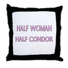 Half Woman Half Condor Throw Pillow