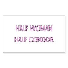 Half Woman Half Condor Rectangle Decal