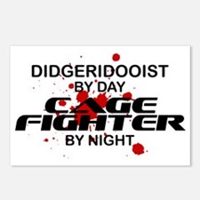 Didgeridooist Cage Fighter by Night Postcards (Pac