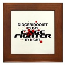 Didgeridooist Cage Fighter by Night Framed Tile