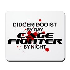 Didgeridooist Cage Fighter by Night Mousepad