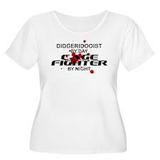 Didgeridooist Cage Fighter by Night T-Shirt