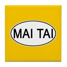 Mai Tai Euro Oval orange Tile Coaster