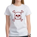 Cartoon Skull & Crossbones Women's T-Shirt