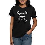 Cartoon Skull & Crossbones Women's Dark T-Shirt
