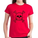 Cartoon Skull & Crossbones Women's Dark T-Shir