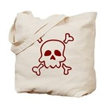 Cartoon Skull & Crossbones Tote Bag