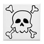 Cartoon Skull & Crossbones Tile Coaster