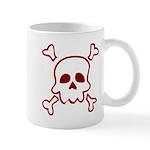 Cartoon Skull & Crossbones Mug