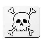 Cartoon Skull & Crossbones Mousepad
