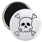 Cartoon Skull & Crossbones Magnet