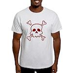 Cartoon Skull & Crossbones Light T-Shirt