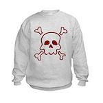 Cartoon Skull & Crossbones Kids Sweatshirt