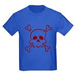 Cartoon Skull & Crossbones Kids Dark T-Shirt