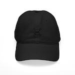 Cartoon Skull & Crossbones Black Cap