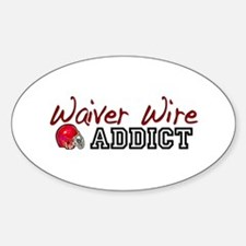 Waiver Wire Addict Oval Decal