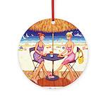 Sea for Two - Beach Ornament (Round)