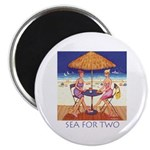 Sea for Two - Beach Magnet