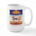 Sea for Two - Beach Large Mug