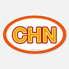 CHN - China Oval Decal