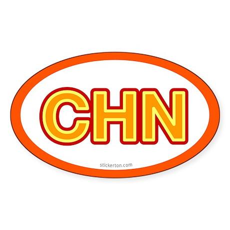 CHN - China Oval Sticker
