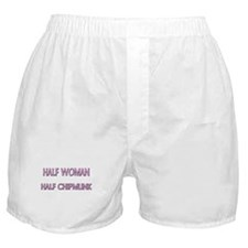 Half Woman Half Chipmunk Boxer Shorts
