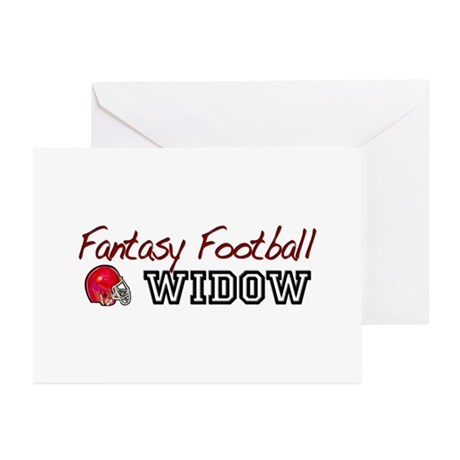 Fantasy Football Widow Greeting Cards (Pk of 10)