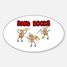 Band Rocks Oval Decal