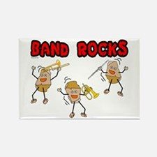 Band Rocks Rectangle Magnet