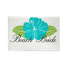 Beach Bride Rectangle Magnet