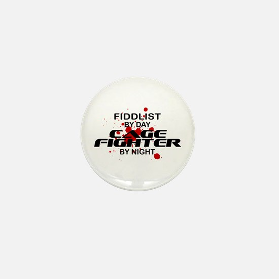 Fiddlist Cage Fighter by Night Mini Button