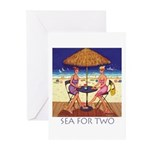 Sea for Two - Beach Greeting Cards (Pk of 20)