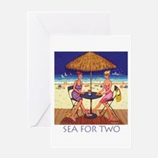 Sea for Two - Beach Greeting Card