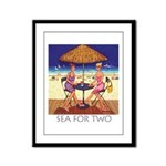 Sea for Two - Beach Framed Panel Print