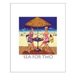 Sea for Two - Beach Small Poster