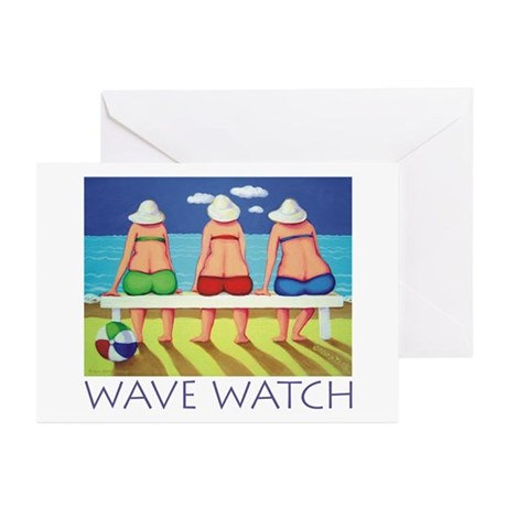 Wave Watch - Beach Greeting Cards (Pk of 10)