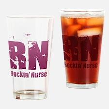 RN - Rockin' Nurse Pink Drinking Glass