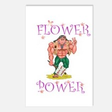 FLOWER POWER Postcards (Package of 8)