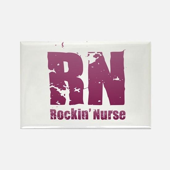 RN - Rockin' Nurse Pink Magnets
