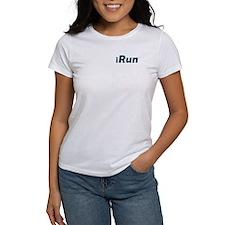 iRun, aqua trim (front & back) Tee